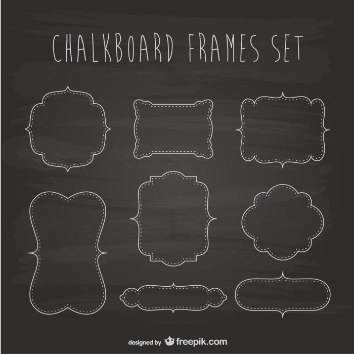 Blackboard frames set
