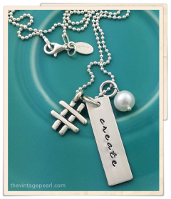 hashtag necklace the vintage pearl